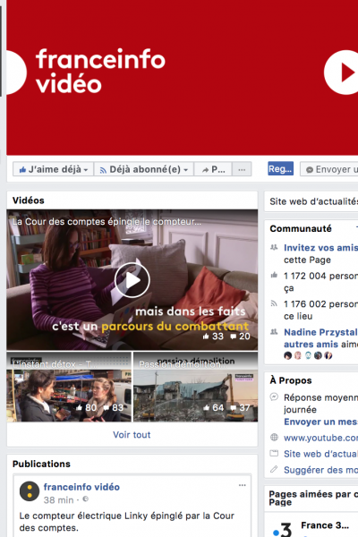 Facebook Franceinfo video